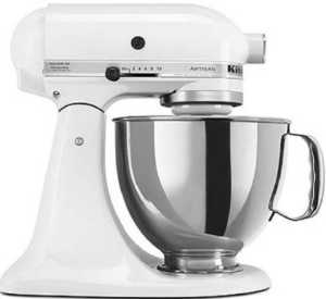 KitchenAid KSM150PSWH Artisan Series 5 Quart Stand Mixer